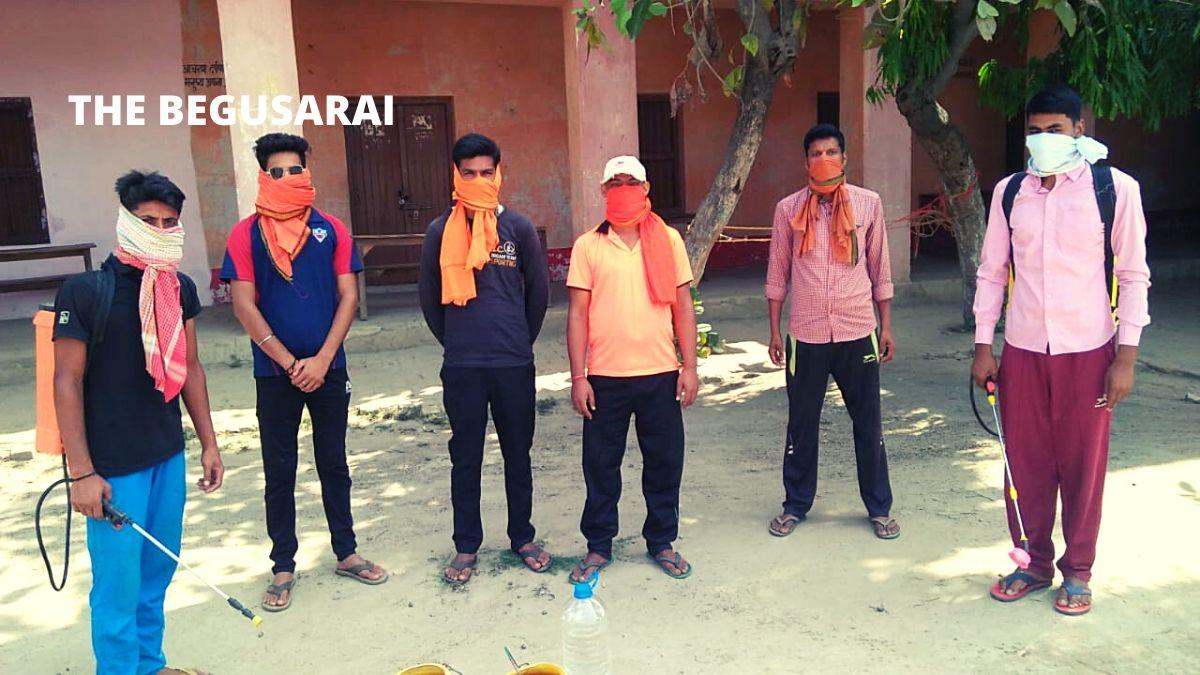 Behat: ABVP activists sanitize Korention Center on Savarkar Jayanti