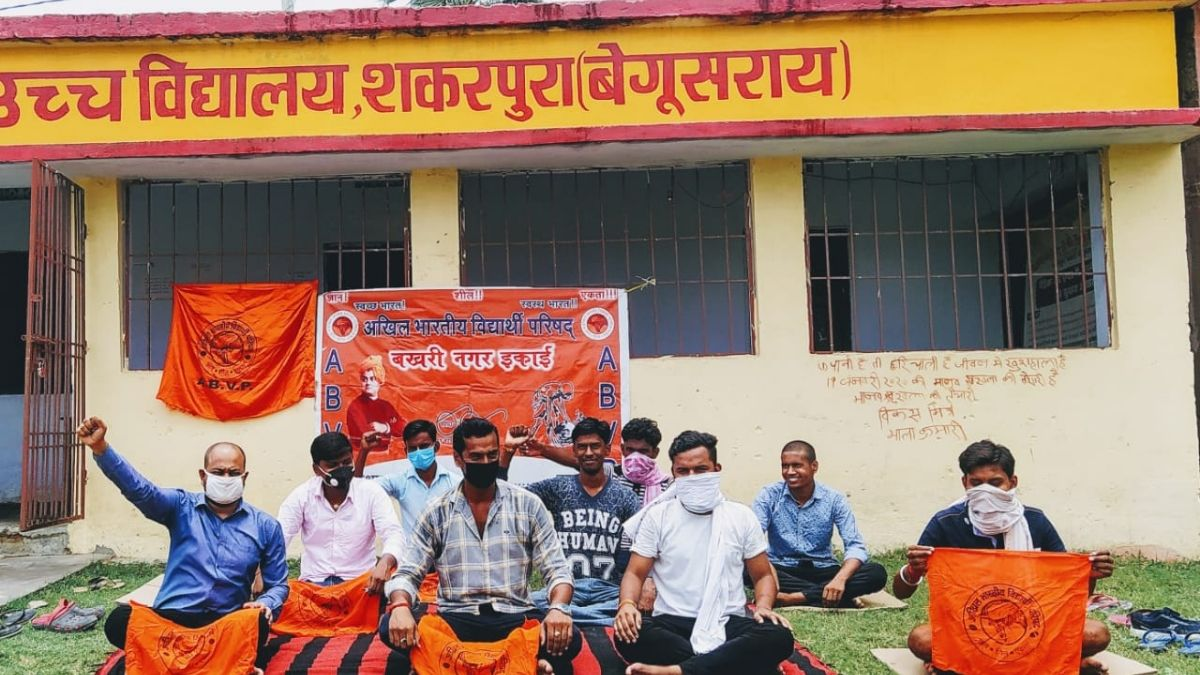 ABVP protests against Bihar government