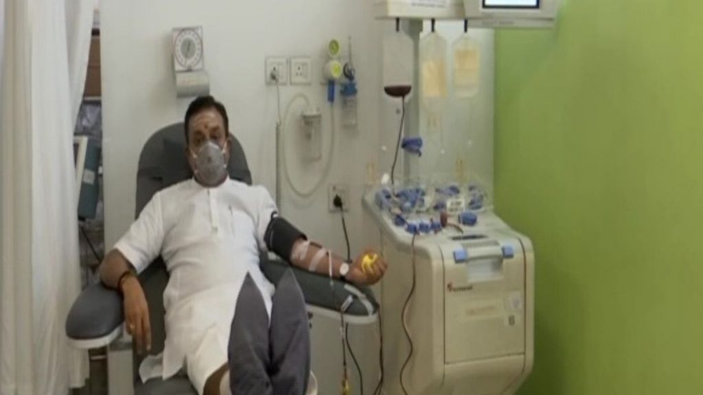 Sambit Patra Donate Plasma for Covid