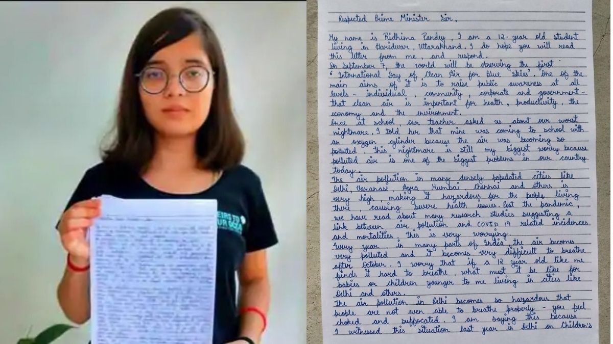 Ridhima Pandey Letter