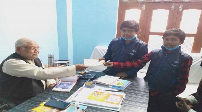 small children collect money for ram mandir