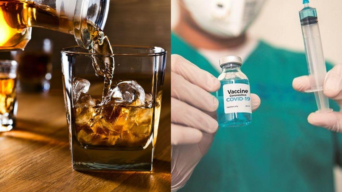 alcohol with corona vaccine