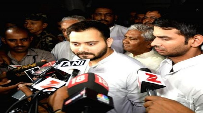 tejaswi yadav after lalu meeting