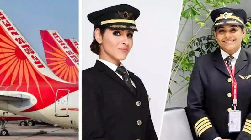 air india flight women pilot