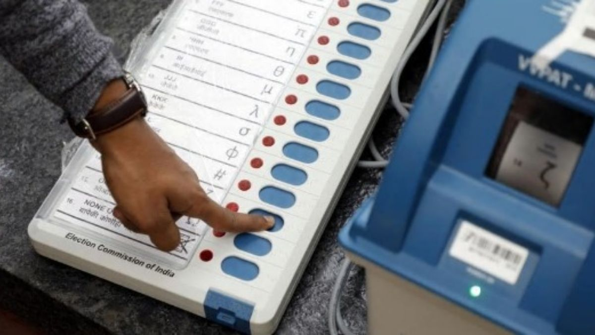 bihar ward election by evm machine
