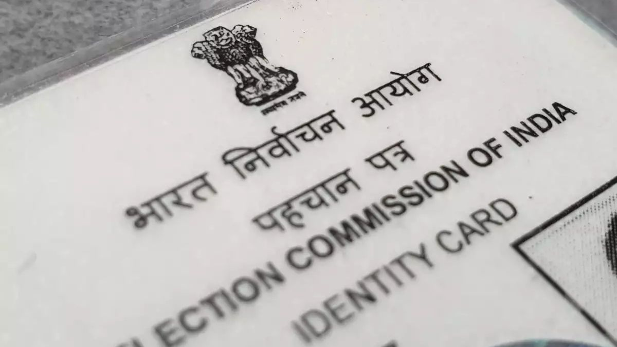 election commission of india produced new cards