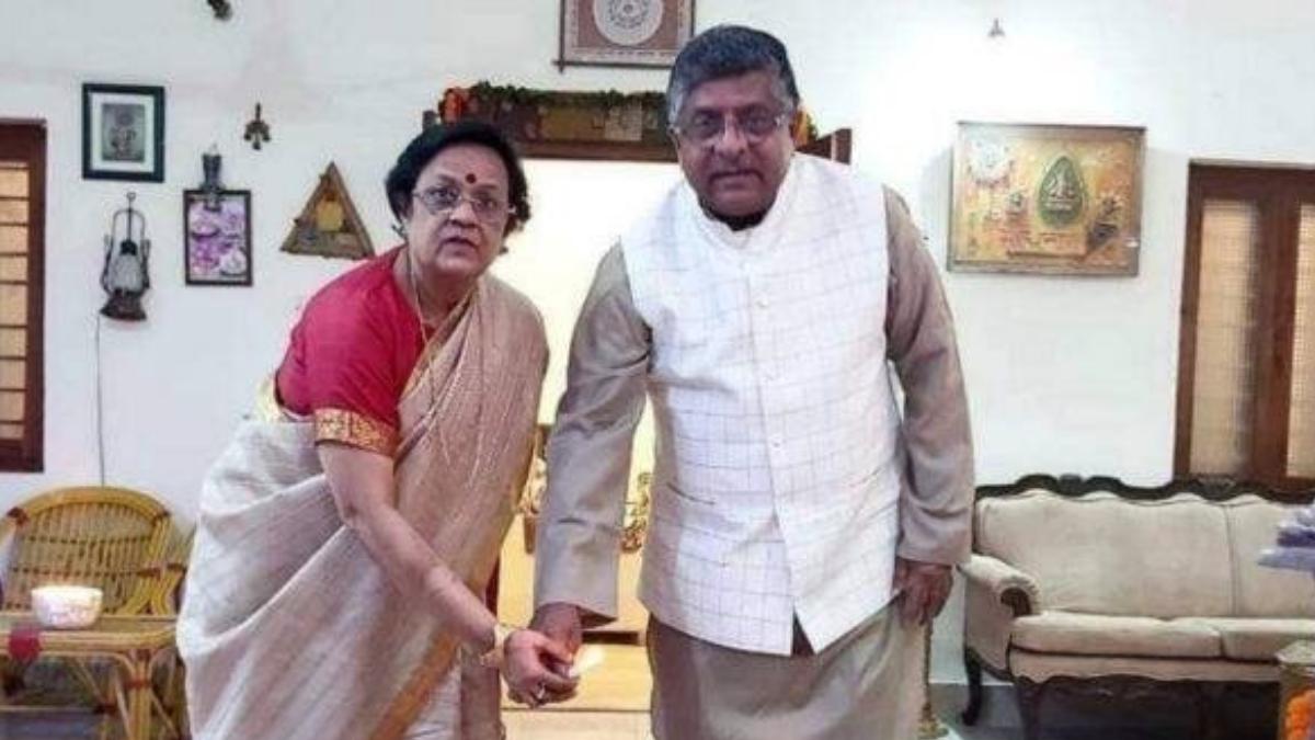 ravi shankar with wife