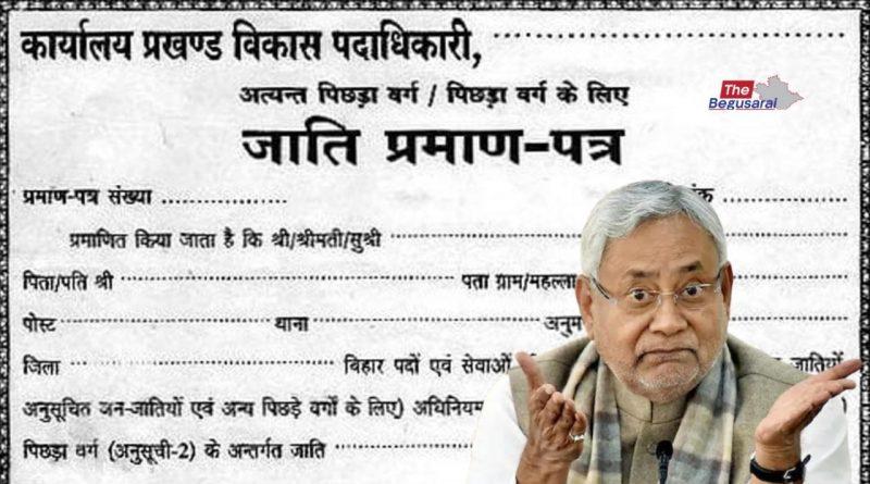 Caste Certificate Bihar