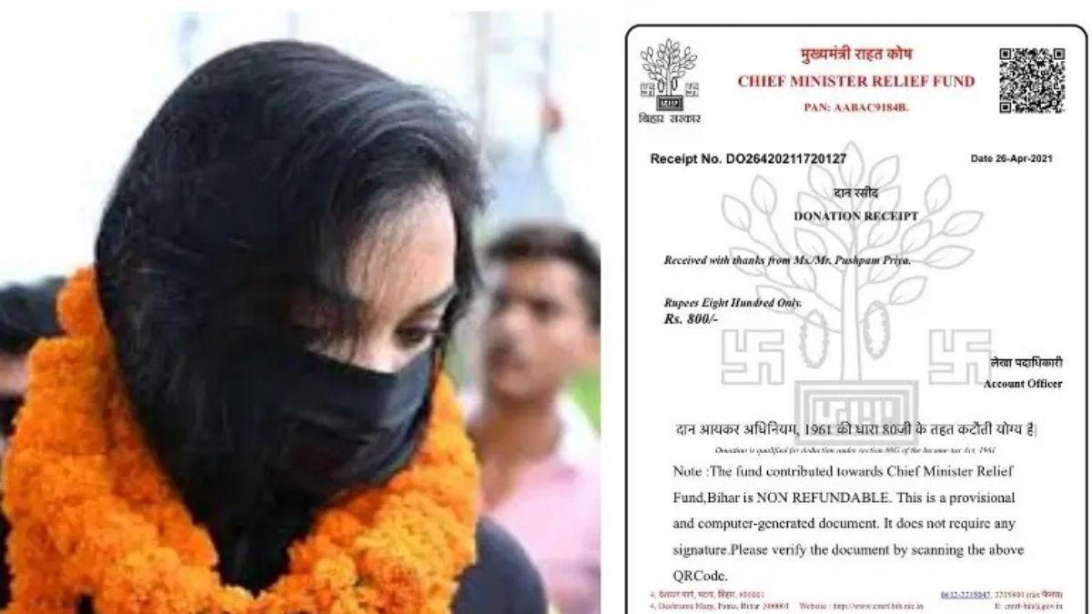 Pushpam priya chaudhary vaccination 800 rs