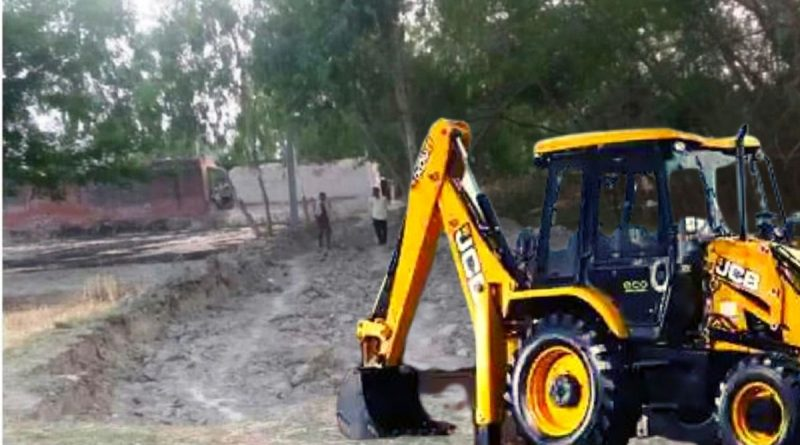 Gram pradhan chunav torn road in upJCB