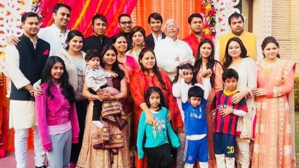 Lalu Yadav seven daughter with full family photo