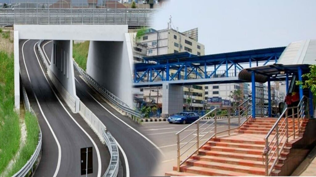 Under Pass And Foot Overbridge