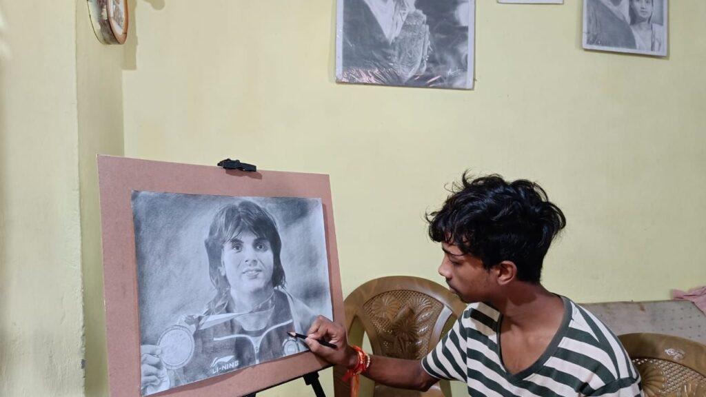 Neeraj CHopra Painting